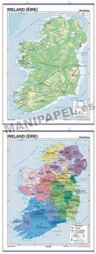 MAPAS MURALES EN INGLÉS FÍSICO / POLÍTICO ED-652 Físico / Político Ireland