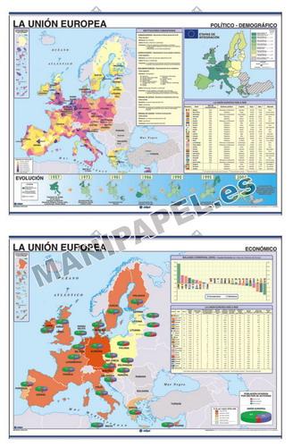 MAPAS MURALES FÍSICO / POLÍTICO ED-688 Unión Europea