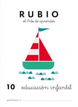 CUADERNO RUBIO PREESCOLAR DE 1 A 10 PR10 3 a 5 años 84-85109-49-x preescolar10