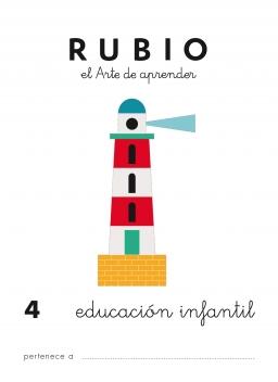CUADERNO RUBIO PREESCOLAR DE 1 A 10 PR4 3 a 5 años 84-85109-43-0 preescolar4