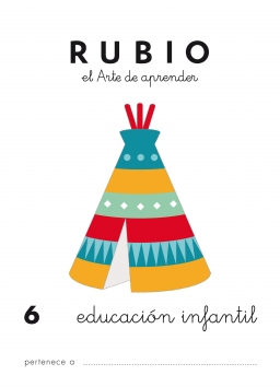 CUADERNO RUBIO PREESCOLAR DE 1 A 10 PR6 3 a 5 años 84-85109-45-7 preescolar6
