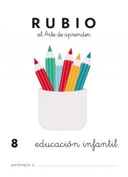 CUADERNO RUBIO PREESCOLAR DE 1 A 10 PR8 3 a 5 años 84-85109-47-3 preescolar8