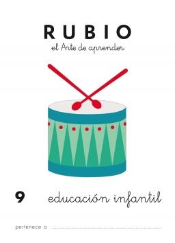 CUADERNO RUBIO PREESCOLAR DE 1 A 10 PR9 3 a 5 años 84-85109-48-1 preescolar9