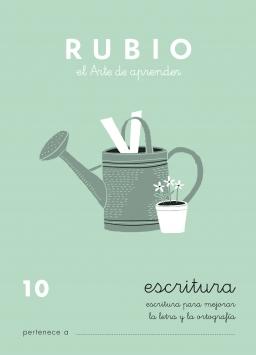 CUADERNOS RUBIO ESCRITURA DE 1 A 13 C10 9 a 11 años Escritura para mejorar la letra y la ortografía 84-85109-33-3 escritura10