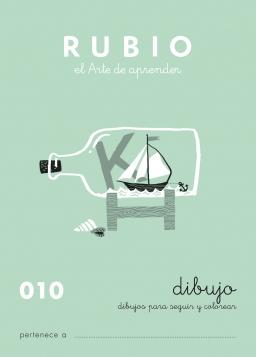 CUADERNOS RUBIO ESCRITURA DE 0 A 010 C010 3 a 7 años Dibujos para seguir y colorear Con puntos y dibujos 84-85109-23-6 dibujos010