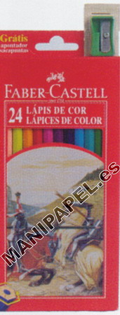LÁPICES DE COLOR CON FORMA HEXAGONAL FABER120124 24