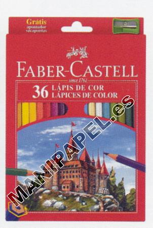 LÁPICES DE COLOR CON FORMA HEXAGONAL FABER120136 36