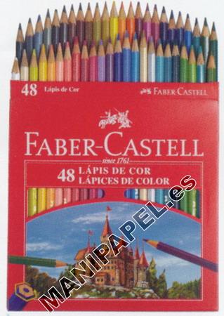 LÁPICES DE COLOR CON FORMA HEXAGONAL FABER120148 48