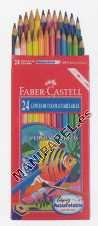 LÁPICES DE COLOR ACUARELABLES FABER12024 24