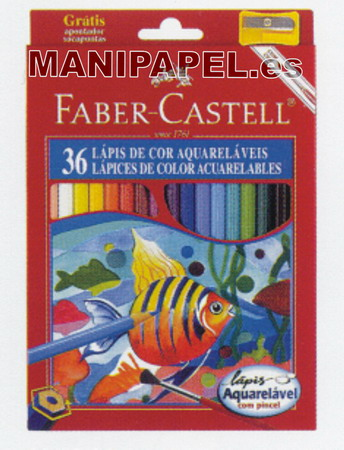 LÁPICES DE COLOR ACUARELABLES FABER120236 36
