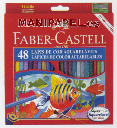LÁPICES DE COLOR ACUARELABLES FABER120248 48