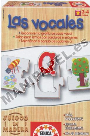 JUEGOS EN MADERA ED-12382 3 - 4 años Las Vocales