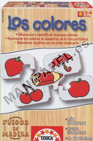 JUEGOS EN MADERA ED-12385 3 - 4 años Los Colores