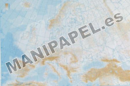 MAPA MUDO FÍSICO BLANCO Y NEGRO (100 unidades) 22166 Europa 100