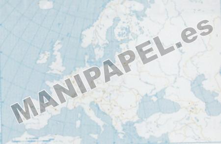 MAPA MUDO POLÍTICO BLANCO Y NEGRO (100 unidades) 22172 Europa 100