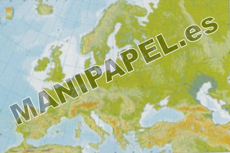 MAPA MUDO FÍSICO COLOR (100 unidades) 24597 Europa 100
