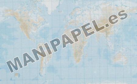 MAPA MUDO FÍSICO BLANCO Y NEGRO (100 unidades) 22163 Planisferio 100