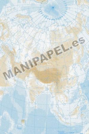 MAPA MUDO FÍSICO BLANCO Y NEGRO (100 unidades) 22164 Asia 100