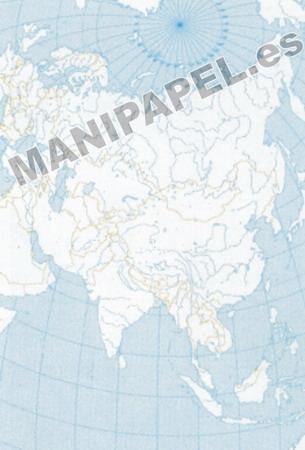 MAPA MUDO POLÍTICO BLANCO Y NEGRO (100 unidades) 22177 Asia 100