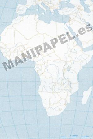 MAPA MUDO POLÍTICO BLANCO Y NEGRO (100 unidades) 22174 África 100