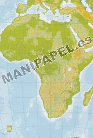 MAPA MUDO FÍSICO COLOR (100 unidades) 24592 África 100