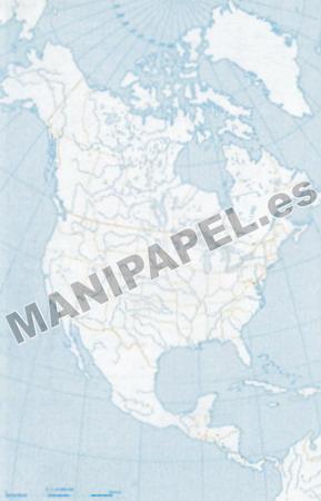 MAPA MUDO POLÍTICO BLANCO Y NEGRO (100 unidades) 22175 América Norte 100