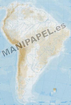 MAPA MUDO FÍSICO BLANCO Y NEGRO (100 unidades) 22169 América Sur 100