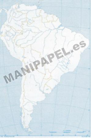 MAPA MUDO POLÍTICO BLANCO Y NEGRO (100 unidades) 22176 América Sur 100