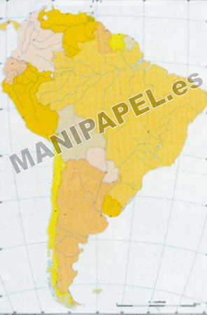 MAPA MUDO POLÍTICO COLOR (100 unidades) 24586 América Sur 100