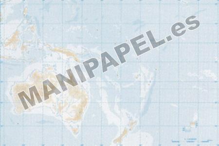 MAPA MUDO FÍSICO BLANCO Y NEGRO (100 unidades) 23782 Oceanía 100