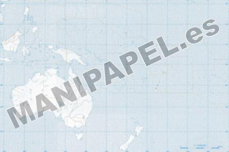 MAPA MUDO POLÍTICO BLANCO Y NEGRO (100 unidades) 31356 Oceanía 100