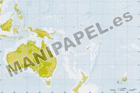 MAPA MUDO FÍSICO COLOR (100 unidades) 24599 Oceanía 100