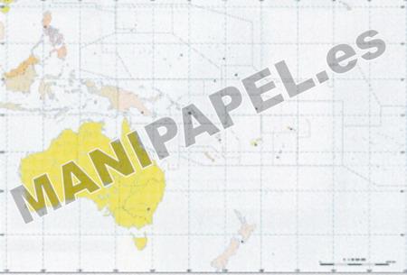 MAPA MUDO POLÍTICO COLOR (100 unidades) 24682 Oceanía 100