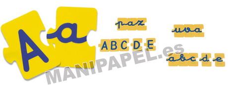 PUZZLE ABECEDARIO MAY/MINÚSC. 168 PIEZAS MINI-31875