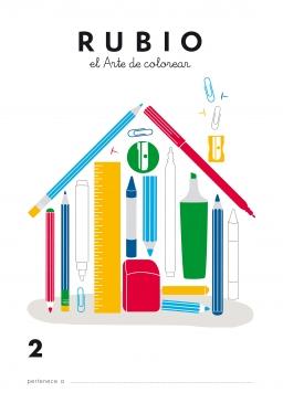 LIBRO DE COLOREAR LC1 Y LC2 LC2 84-85109-39-2 librodecolorearlc2