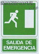 PLACAS DE SEÑALIZACIÓN NORMALIZADA FLUORESCENTE SS795A4603F Salida de emergencia DHCA