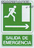 PLACAS DE SEÑALIZACIÓN NORMALIZADA FLUORESCENTE SS795A4601F Salida de emergencia