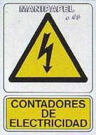 PLACAS DE SEÑALIZACIÓN NORMALIZADA FLUORESCENTE SS795A4207F Riesgo eléctrico
