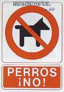 PLACAS DE SEÑALIZACIÓN NORMALIZADA FLUORESCENTE SS795A4109F Perros NO