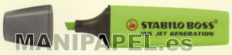 MARCADOR BOSS INK JET STA7435 Verde