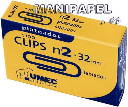CLIPS PLATEADOS UME200700 32 mm NÚMERO 2