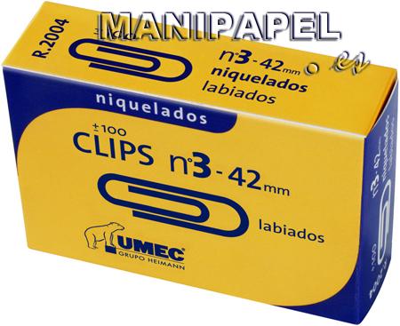 CLIPS PLATEADOS UME200800 4,2 mm NÚMERO 3