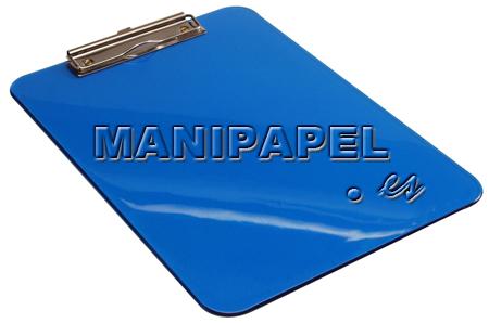 SOPORTES CON PINZA METÁLICA UME901420 Azul Polipropileno transparente