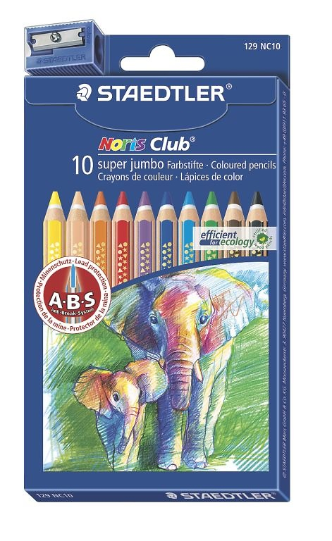 LÁPICES NORIS COLOR SUPER JUMBO (10 unidades)