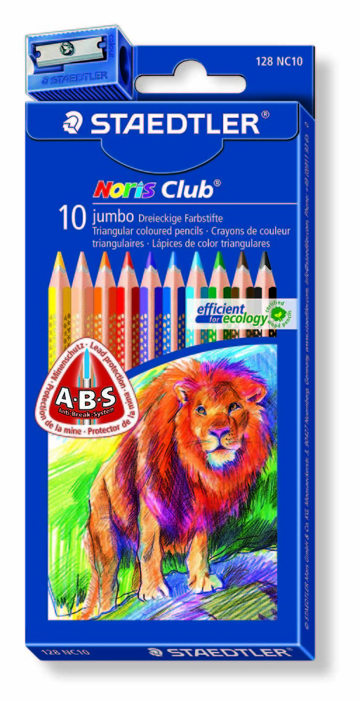 LÁPICES NORIS COLOR TRIPLUS JUMBO (10 unidades)