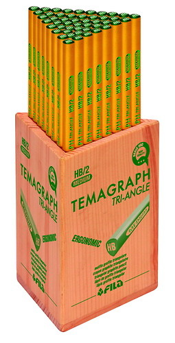 LÁPIZ TEMAGRAPH TRIANGULAR PACK ESCOLAR (48 unidades)