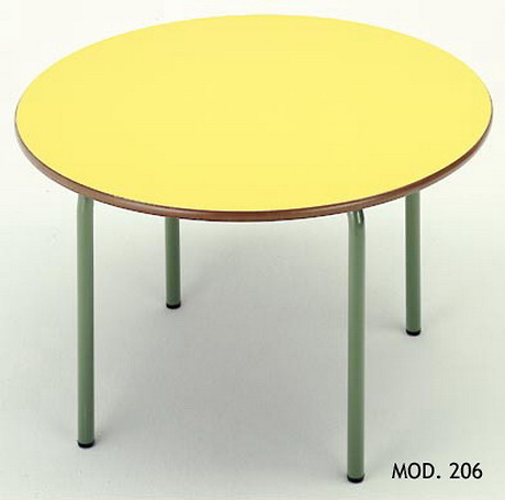 MESA CIRCULAR INFANTIL MADERA - METAL 120 cm