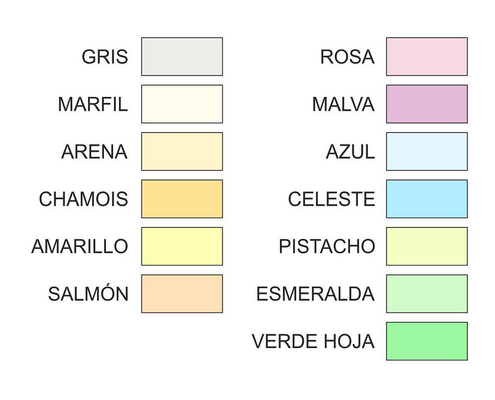 PAPEL DE COLORES PÁLIDOS A3 80 GR