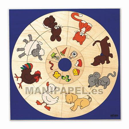PUZZLE CIRCULO ANIMALES