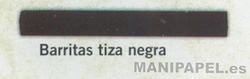 BARRITAS CRETA NEGRA (TIZA) (12 unidades)